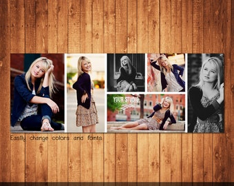 Facebook Timeline Cover Template Photo Collage Photoshop template instant download