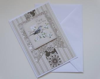 Enjoy Your Day Bird Themed Wedding A6 Card