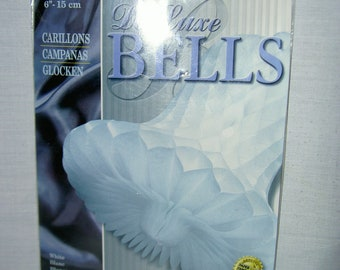 "Honeycomb (Art-Tissue) Wedding Bells - 6"" White"