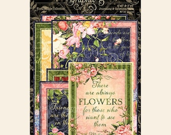 NEW!!! Graphic 45 Floral Shoppe Ephemera Cards SC007779