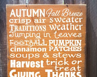 fall decor, fall decorations, fall signs, fall wood decor, fall wood signs, fall decorating, autumn signs, autumn decor, autumn decorations