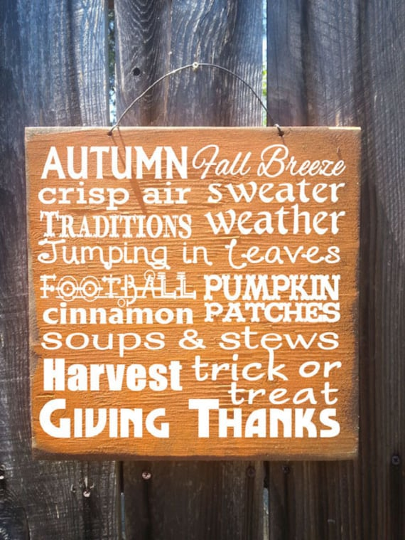 fall decor fall sign Autumn Words Sign Fall Words Sign
