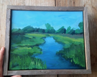 Salt Marsh Painting ~ Landscape Painting