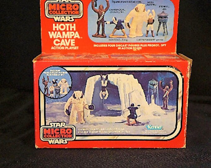 Featured listing image: 1982 Star Wars Micro Collection Hoth Wampa Cave MIB, REVENGE of the Jedi promo, cardboard insert, sealed bags
