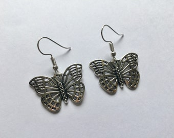 Butterfly Earrings, Silver Butterfly Earrings, Butterfly Jewellery, Butterfly Gift, Nature Jewellery, Nature Gifts, Gift for Her, Birthday