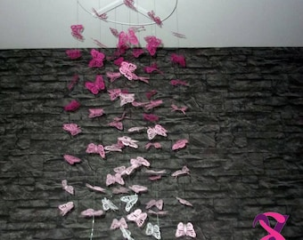 Paper Butterfly (shades of pink) theme mobile