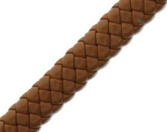 Free UK postage - Synthetic Braided Leather Tan 0.9 meter