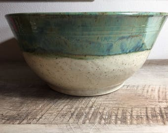 Extremely Large Serving Bowl in Seafoam