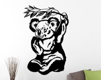 Koala Sticker Animal Wall Decal Home Wall Decor Living Room Wall Art Bedroom Decor Vinyl Art Mural Waterproof Mural 7kozz
