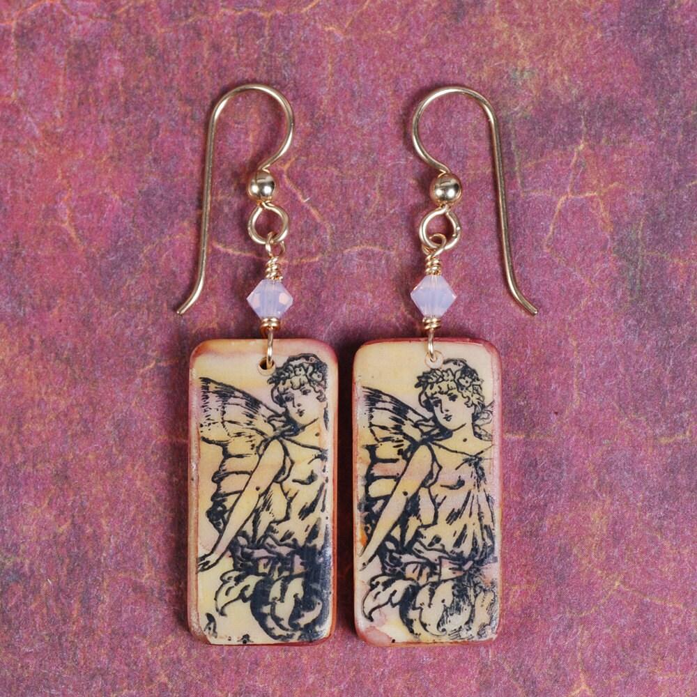 Cherub Earrings Cupid Earrings Angel Earrings Domino
