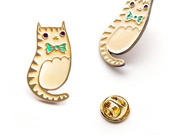 Cat enamel pin CAT PIN - lapel pin cat jewelry - badge brooch cat pins - pin collection - cute cat lover gift