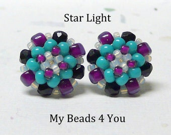 Beaded Earrings,Beadwoven Earrings, Seed Bead Earrings, Post Earrings, Stud Earrings, Beadwork Earrings
