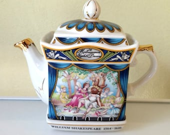 Sadler Teapot, Shakespeare Midsummer Night's Dream, Souvenir, Mothers Day SPRING SALE