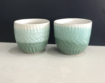 Green Textured Cup