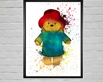 Teddy Bear - Teddy Bear Prints - Teddy Bear Nursery Decor - Teddy bear Art -Teddy Bear Wall Art
