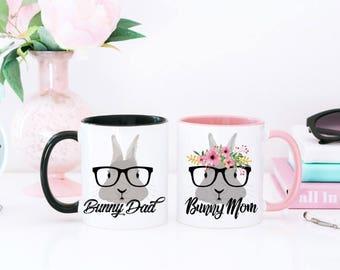 Bunny Mug - Bunny Mom Mug - His and Hers Mug - Bunny Lover Coffee Mug - Rabbit Coffee Mug - Bunny Lover Gift - Gift for Bunny Owner