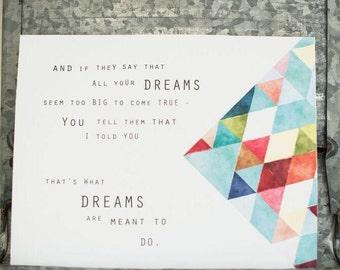 Fine art print: DREAM