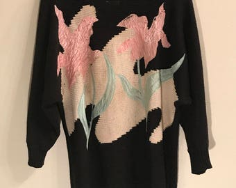 80's Adolfo Beaded Sweater
