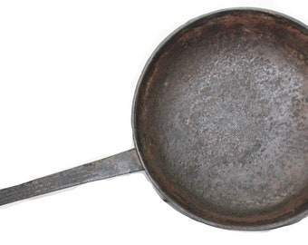 "Original 18th Century American Cast Iron 10"" Wide Cooking Skillet"