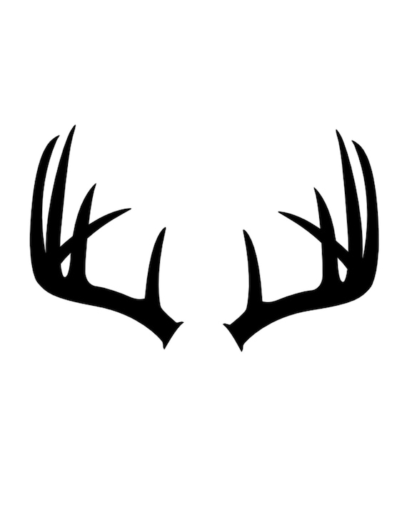 Antlers Stencil Made From 4 Ply Mat Board