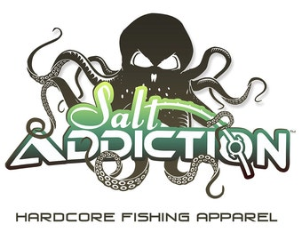 Salt Addiction Octopus Logo t shirt,fishing t shirt,ocean,flats,life