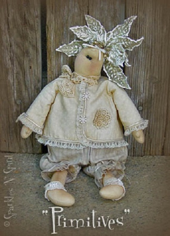 "Pattern: Opal - 14"" Flower Prim Rag Doll"