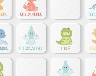 Dinosaur Game | Toddler Game | Memory Game | Educational Toys | Toddler Gift | Dinosaur Flashcards | Game | Baby Shower Gift