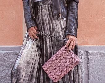 Luxury crochet shoulder bag