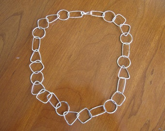 Geometry Chain Necklace in Sterling Silver