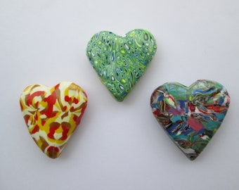 Fridge magnet set,cute fridge magnets,heart magnets,magnets for kids,kitchen decor,polymer clay magnet,handmade ,magnet gifts,gifts for her