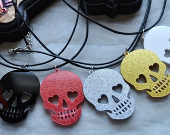 Day of the Dead Sugar Skull Necklace // Dia de los Muertos // Calaveras // Sugar Skull Pendant // Goth