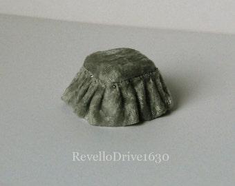 Footstool, velvet, choose your colour, miniature dollhouse 1/12