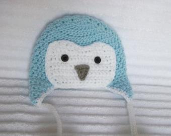 Baby Penguin hat, newborn penguin hat, crochet penguin hat, photo prop, penguin hat, penguin beanie, baby penguin beanie, baby boy hat
