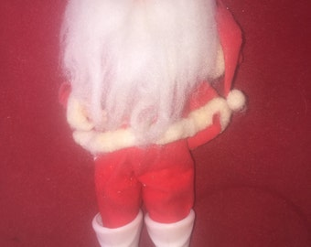 Vintage Santa Claus Ornament with plastic boots face and cotton beard