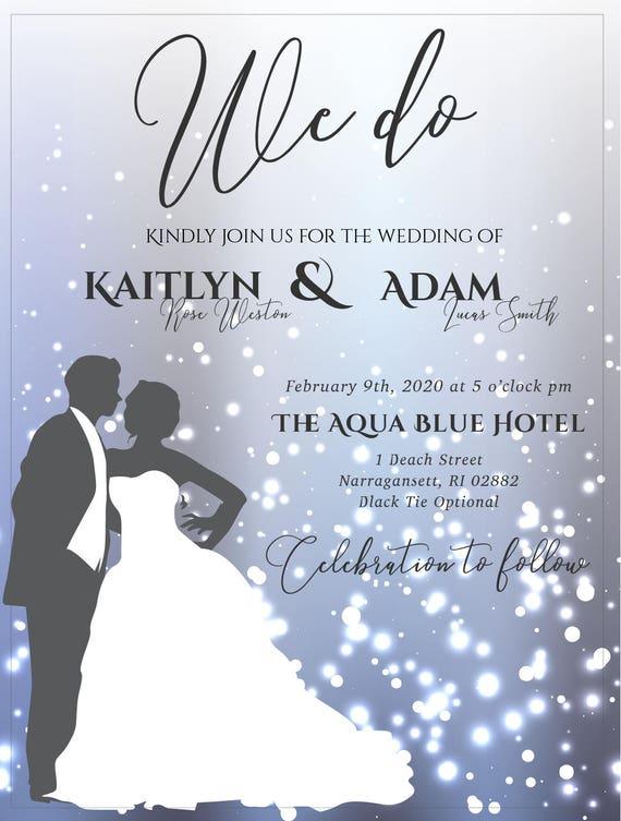 Wedding Invitation Sparkle Sparkle Wedding Sparkle Wedding
