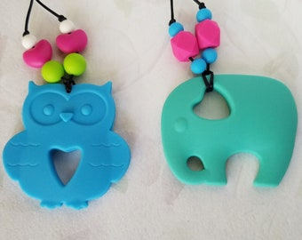 Chewable Jewelry Sensory Beads Silicone Jewelry Baby, Toddlers and Autism Jewelry Chew Necklace Nursing Necklace