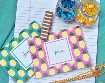 Pineapple Note Cards, Pineapple Stationery, Pineapples, Monogrammed Stationery, Personalized Note Cards, Personalized Stationery, Notecards