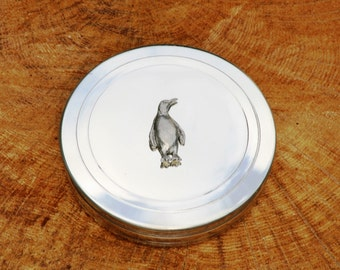 Penguin Trinket Box English Pewter Ladies Gift