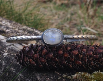 Moonstone Stacker Cuff - size L/XL