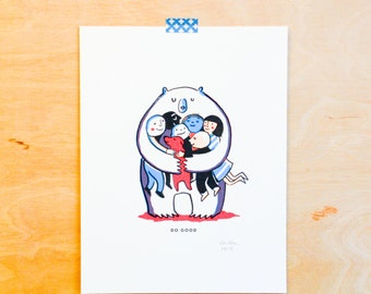 Do Good: Bear Hug Print (ACLU donation)