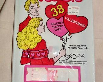 Barbie Valentine Cards Package 38 Unopened
