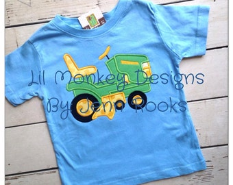 Riding Lawn Mower Applique Design T-Shirt