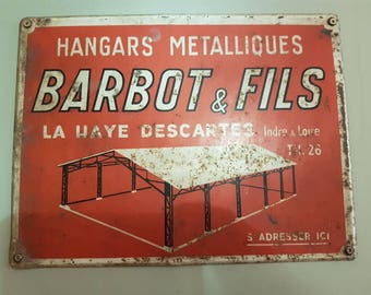 Genuine vintage French tin advertising sign