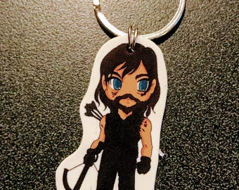 Daryl Dixon - Walking Dead Keychain, Cell Phone Charm, Necklace, Earrings, Stickers, Tattoos, Embroidered Patch, Magnets