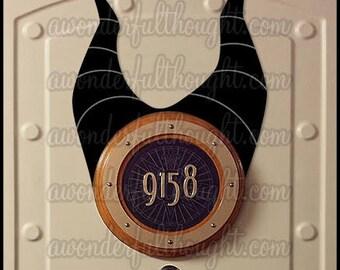 Stateroom Ears Maleficent | Disney Cruise Door Magnet | Instant Download