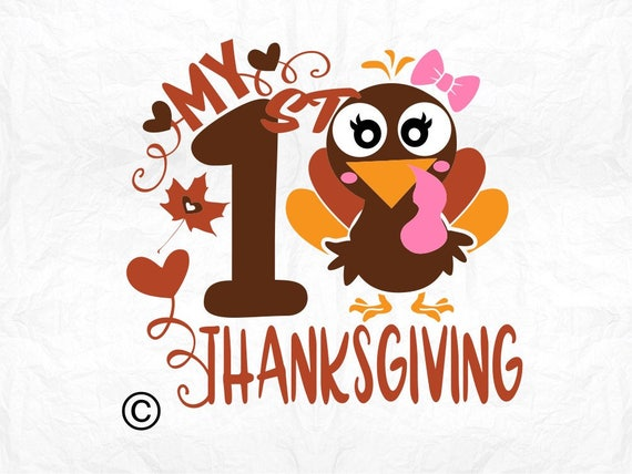 My First Thanksgiving Turkey Svg Clipart Cut Files Silhouette