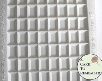 Rectangular Sugar jewel mold or isomalt gem mold. Break apart mold for sugar gems for cake decorating.