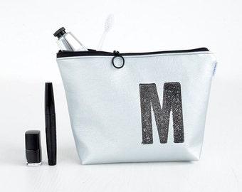 Makeup Bag White Marble Make Up Bag Pencil Case Rose Gold