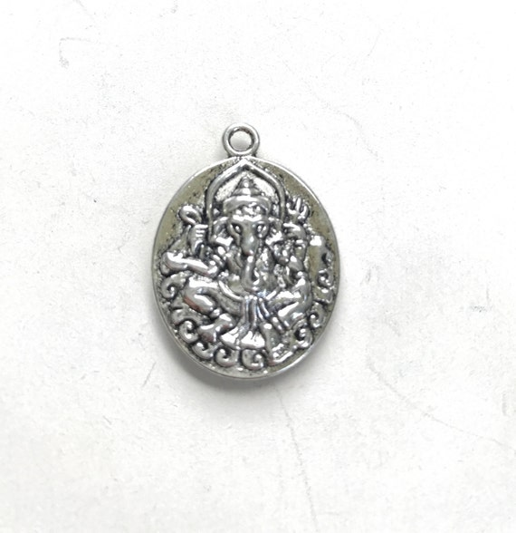 Genesha Charm For Your Tassel Mala,  Add A Charm To Your Mala Beads, Genesha Pendant, Yoga Jewelry