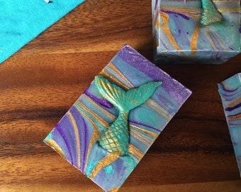 Mermaid  - All Natural Soap Handmade Soap Vegan Soap - Easter Gift Easter Egg Hunt